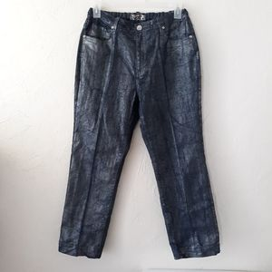 Crest Metallic Junior's Size 17/18 Silver Jeans